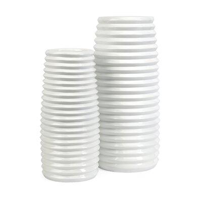 Daley 2 Piece Ribbed Vase Set 10327-2