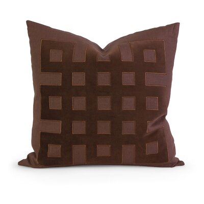 IK Kavita Applique Linen Throw Pillow Color: Brown