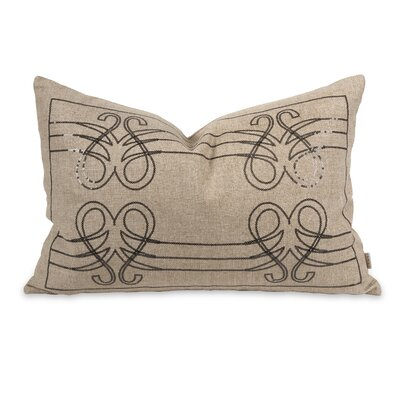 IK Operetta Sequin Linen Lumbar Pillow