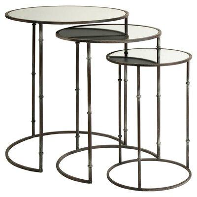 3 Piece Flouressa Mirror Top Nesting Tables