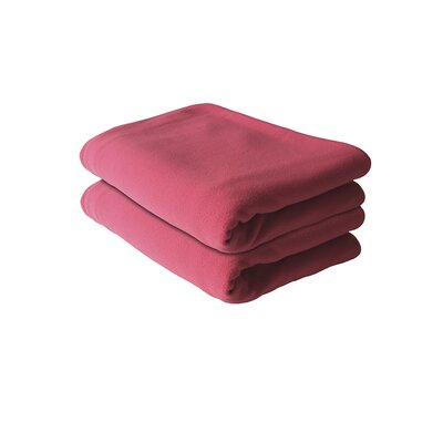 Bones Fleece Blanket Color: Pink