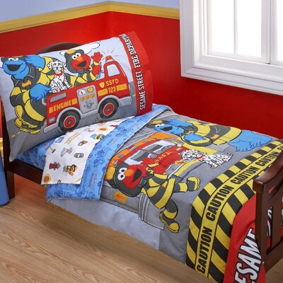 Sesame Street Fire Department 4 Piece Toddler Bedding Set at Sears.com