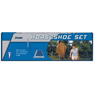 Outdoor Games Recreational Steel Horseshoes Set