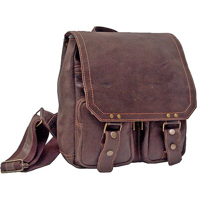 Laptop Backpack in Distressed Leather