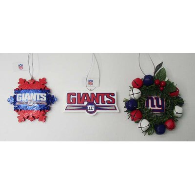 3 Piece Holiday NFL Ornament Set NFL Team: New York Giants FBO3FBNYG