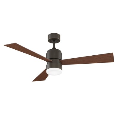 54 Zonix 3-Blade Ceiling Fan with Remote Finish: Oil Rubbed Bronze with Walnut Blades