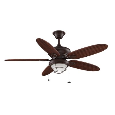 52 Kaya 5-Blade Ceiling Fan Finish: Rust with Bronze Blades