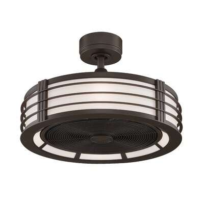 23 Beckwith 5-Blade Ceiling Fan with Remote Finish: Oil-Rubbed Bronze