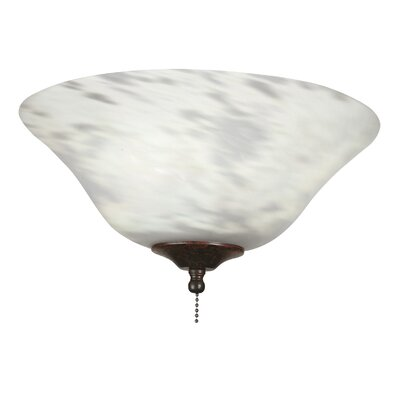 13 Glass Ceiling Fan Bowl Shade Finish: Milky White