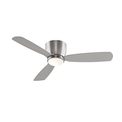 52 Embrace 3-Blade Ceiling Fan Finish: Brush Nickel