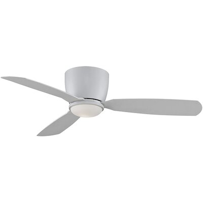 52 Embrace 3-Blade Ceiling Fan Finish: Matte White