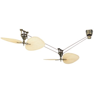 50 Brewmaster Series 4 Blade Short Neck Ceiling Fan Motor Finish: Antique Brass