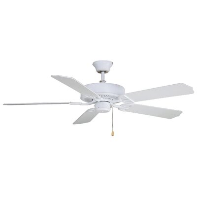 52 Builder Series 5-Blade Standard Ceiling Fan Finish: Matte White