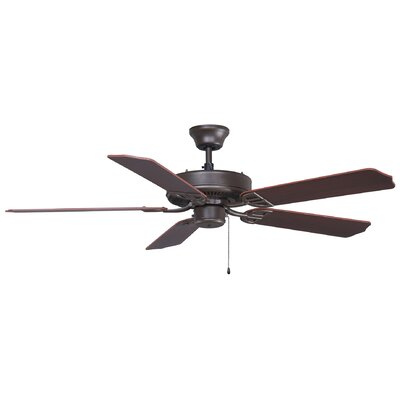 52 Builder 5-Blade Indoor/Outdoor Ceiling Fan Finish: Oil Rubbed Bronze with Walnut Blades