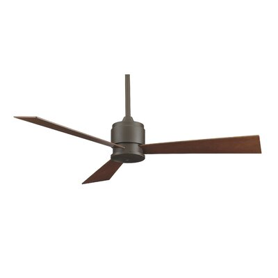 54 Zonix 3-Blade Ceiling Fan Finish: Oil Rubbed Bronze with Cherry / Walnut Blades