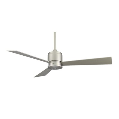 54 Zonix 3-Blade Ceiling Fan Finish: Satin Nickel with Satin Nickel Blades