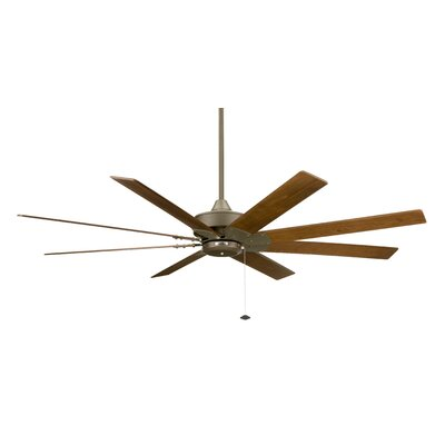 63 Levon 8 Blade Ceiling Fan Fan Finish with Blade Finish: Oil Rubbed Bronze With Walnut Wood Blades