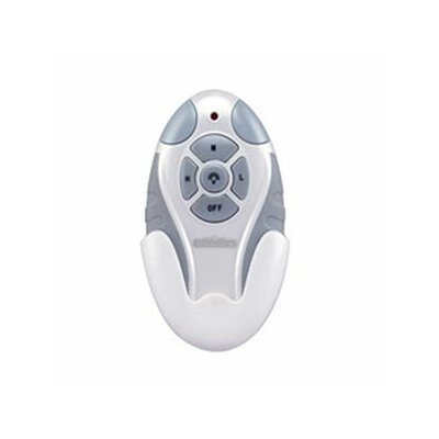 Non Reversing Fan and Light Remote Control in White