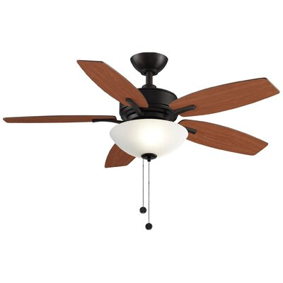 44 Aire Deluxe 5-Blade Ceiling Fan Finish: Cherry/Dark Walnut