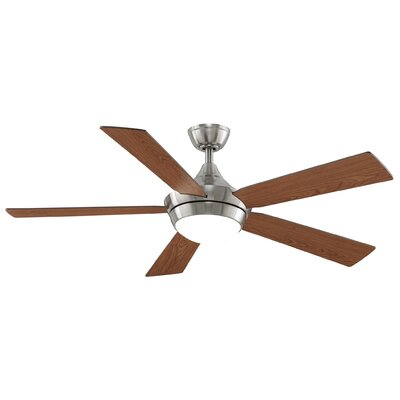 52 Celano V2 5 Blade LED Ceiling Fan with Remote Finish: Brushed Nickel