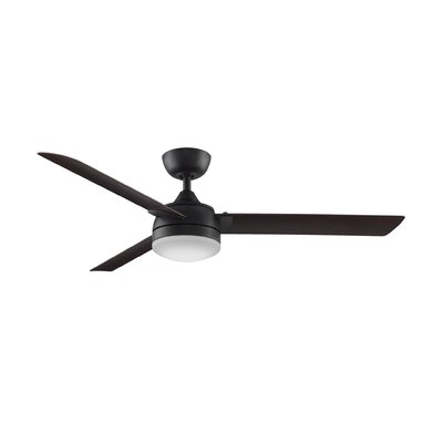 56 Xeno 3 Blade LED Ceiling Fan Finish: Dark Bronze