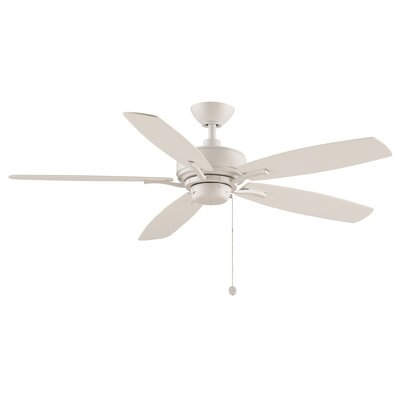 52 Aire Deluxe 5-Blade Ceiling Fan Finish: Matte White