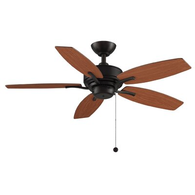 44 Aire Deluxe 5-Blade Ceiling Fan with Remote Finish: Cherry/Dark Walnut