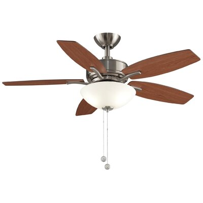 44 Aire Deluxe 5-Blade Ceiling Fan Finish: Brushed Nickel