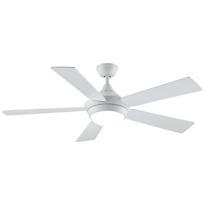 52 Celano V2 5 Blade LED Ceiling Fan with Remote Finish: Matte White