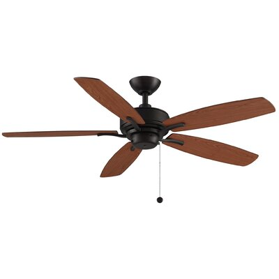 52 Aire Deluxe 5-Blade Ceiling Fan with Remote Finish: Cherry/Dark Walnut