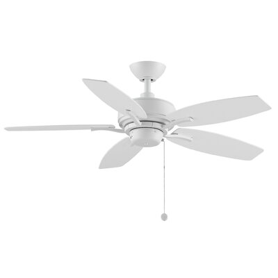 44 Aire Deluxe 5-Blade Ceiling Fan with Remote Finish: Matte White