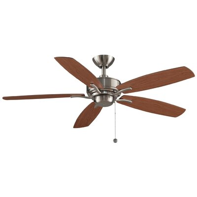 52 Aire Deluxe 5-Blade Ceiling Fan Finish: Brushed Nickel