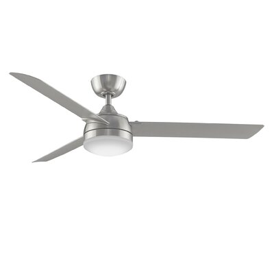 56 Xeno 3-Blade Ceiling Fan Finish: Brushed Nickel