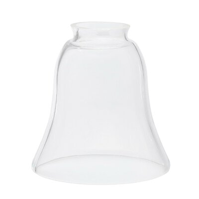 14.57 Glass Bell Pendant Shade Finish: Clear
