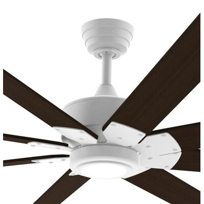 72 Levon Custom 8 Blade Ceiling Fan Motor Finish: Matte White