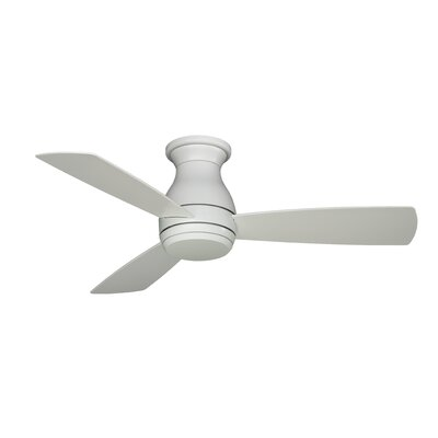 44 Hugh 3 Blade LED Ceiling Fan Finish: Matte White