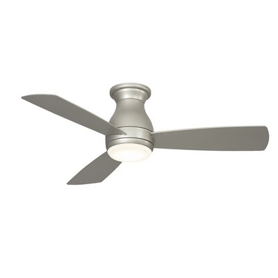 44 Hugh 3 Blade LED Ceiling Fan Finish: Brushed Nickel