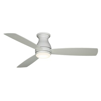 52 Hugh 3 Blade LED Ceiling Fan Finish: Matte White