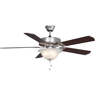 52 Builder Bowl 5-Blade Ceiling Fan Finish: Satin Nickel