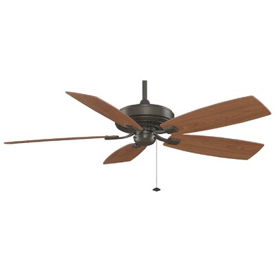 60 Edgewood 5-Blade Ceiling Fan Finish: Oil Rubbed Bronze with Cherry / Walnut Blades