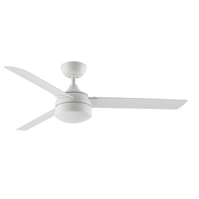 Xeno Wet 3 Blade Ceiling Fan Finish: Matte White