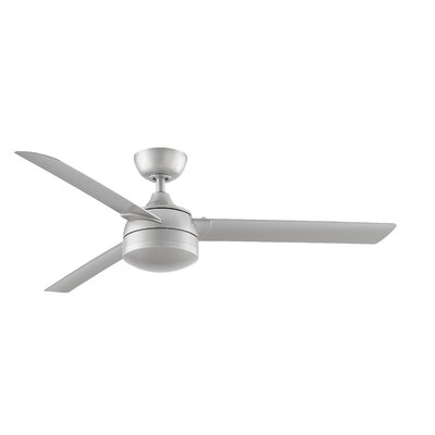 Xeno Wet 3 Blade Ceiling Fan Finish: Brushed Nickel