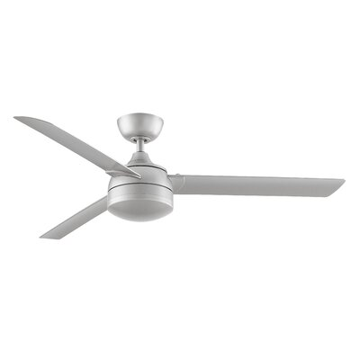 56 Xeno Wet 3 Blade LED Ceiling Fan Finish: Brushed Nickel