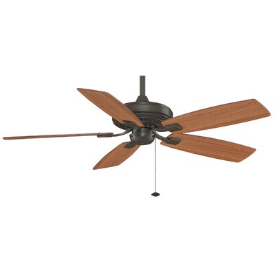 52 Edgewood 5-Blade Ceiling Fan Finish: Oil Rubbed Bronze with Cherry / Walnut Blades