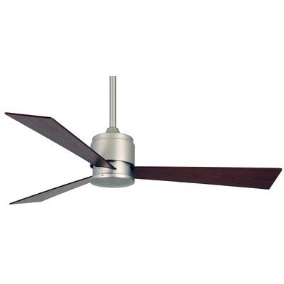 54 Zonix 3-Blade Ceiling Fan Finish: Satin NIckel with Cherry/Walnut Blades
