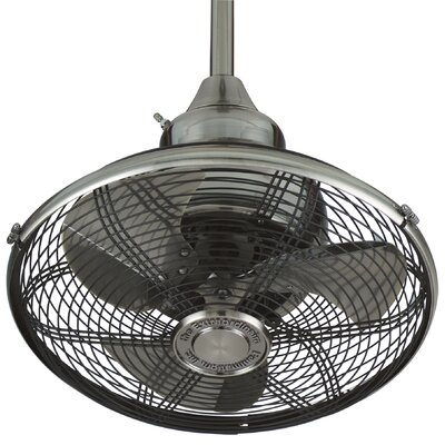 18 Extraordinaire 3 Blade Ceiling Fan Finish: Pewter