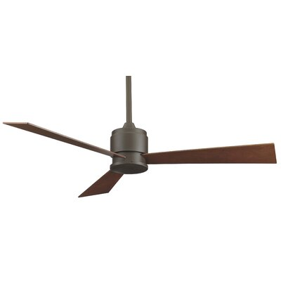 54 Zonix 3-Blade Ceiling Fan Finish: Oil Rubbed Bronze with Cherry/Walnut Blades