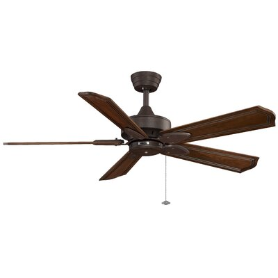 52 Windpointe 5 Blade Ceiling Fan Finish: Rust