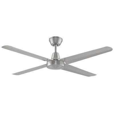 54 Ascension 4 Blades Ceiling Fan Motor and Blade Motor and Blade Finish: Brushed Nickel