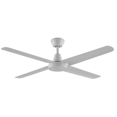 54 Ascension 4 Blades Ceiling Fan Motor and Blade Motor and Blade Finish: Matte White